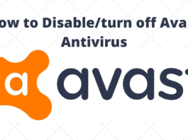 How to Disable/turn off Avast Antivirus